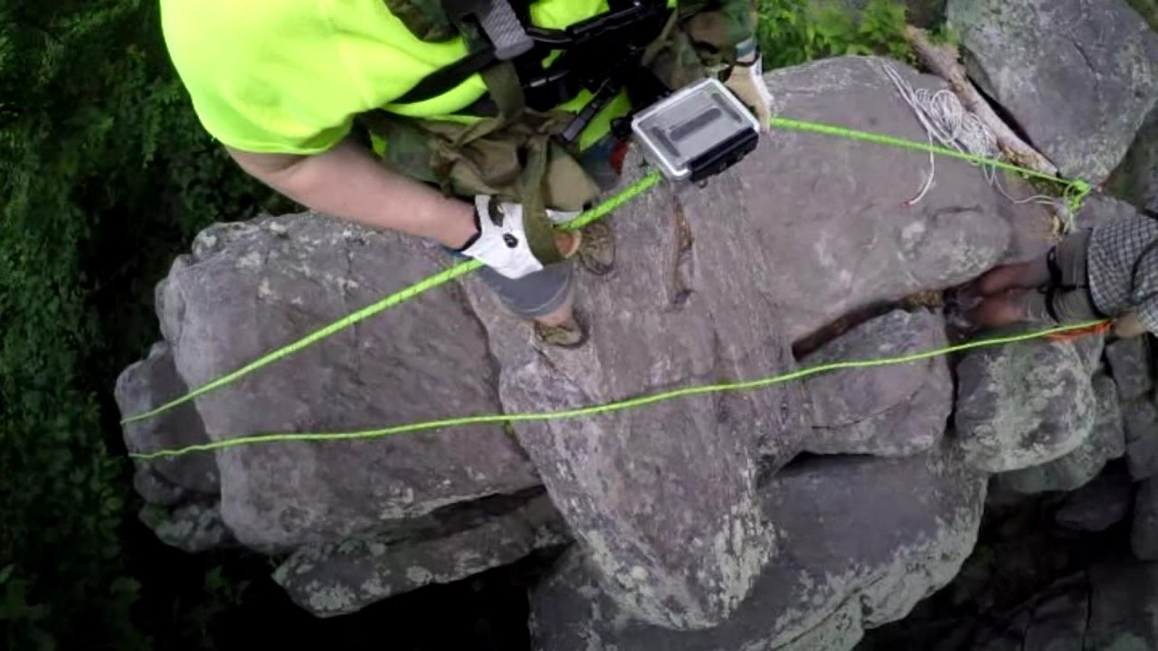 Rappelling Locking Off An 8 In Free Air Sugarloaf Md