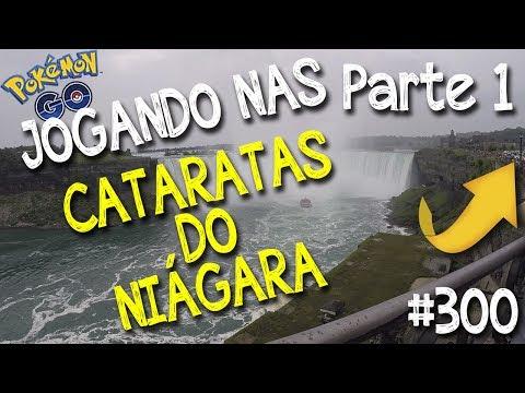 Jogando Pokémon Go nas Cataratas de Niágara (Niagara falls) Parte 1 - Detonando ginásio