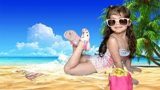 Brincando na Praia Clara Acha Brinquedo Surpresa e Sonha Com Neve.