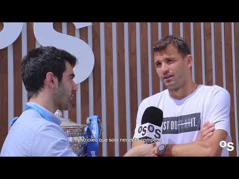 """Grigor Dimitrov: """"Me encantaría ver una final contra Rafa Nadal"""" - BANCO SABADELL"""