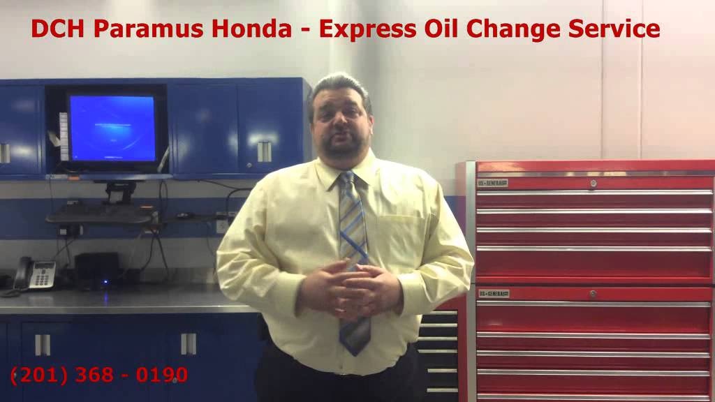 Honda express oil change service at dch paramus honda nj for Honda express service