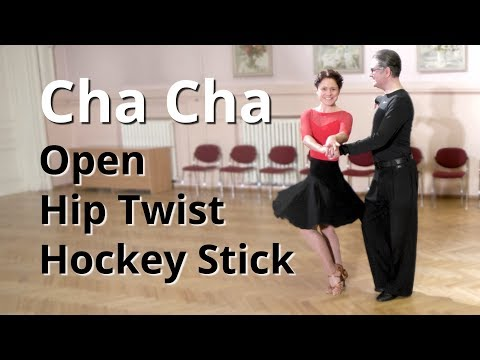 Cha Cha Routine with Open Hip Twist and Hockey Stick | Latin