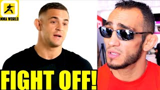 Tony Ferguson vs Dustin Poirier won't be happening as UFC and Poirier failed to come to terms,Jones