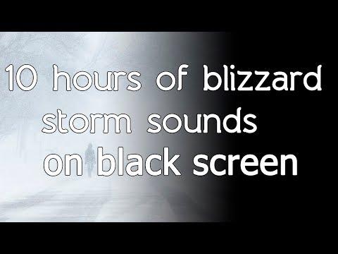 🎧 Blizzard storm sound sounds relaxing winter wind snow black screen dark screen asmr