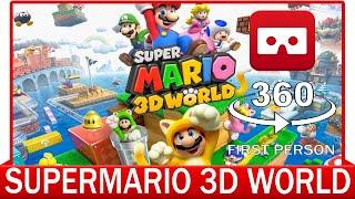 360° VR VIDEO - SUPERMARIO BROS - 3D WORLD - GAMEPLAY - VIRTUAL REALITY 3D