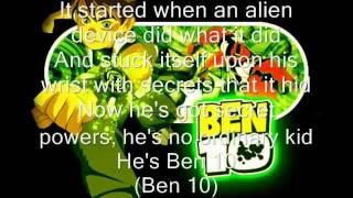 Ben 10 Opening Song English With Lyrics