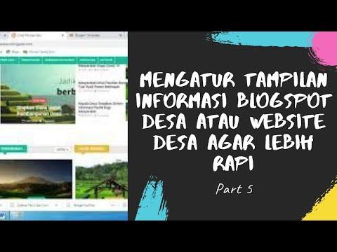 Cara Membuat Tampilan Blog Seperti Website - Bisabo Channel
