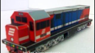 Miniatur Kereta Api Indonesia (papercraft) Kamar Kreatif 14