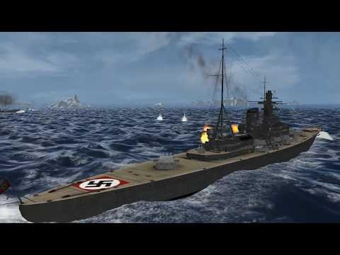 Bismarck's Battleship Fleet Vs Hood's Battleships Fleet GWX-Silent Hunter 3