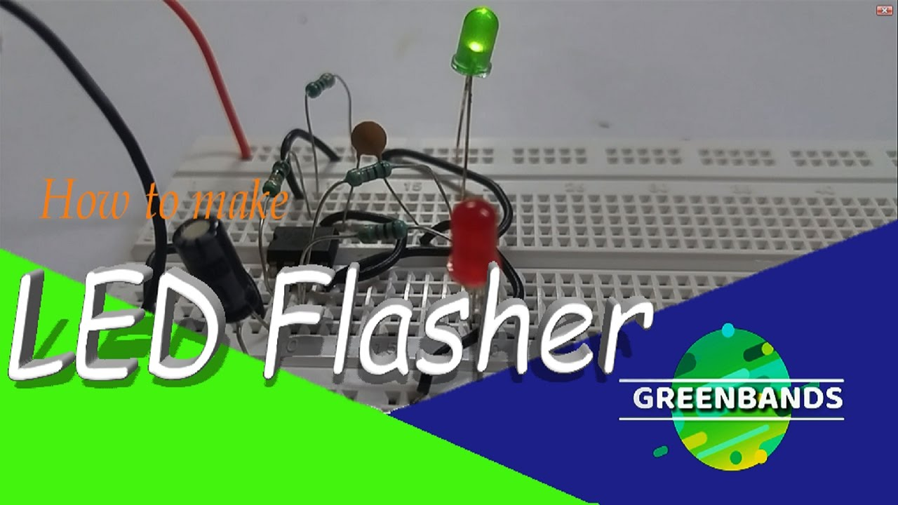 how to make dual flashing leds with 555 timer - YouTube