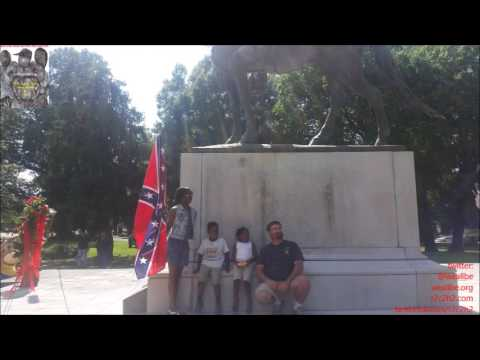 Black Family WITh Confederate Flag @ Nathan Bedford ForREst's Grave: WE Love WhITe Folks But...