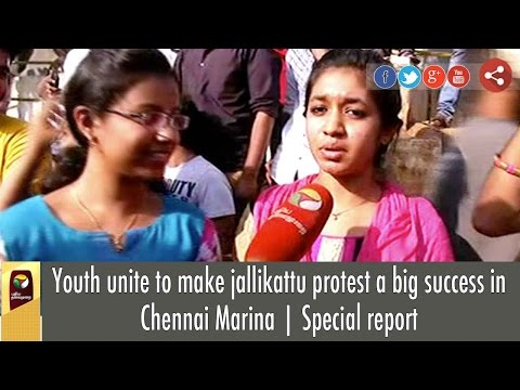 Huge youngsters' rally in Chennai calls for Central legislation for Allowing Jallikattu