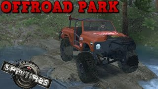 spintires   offroad park   map mod   vm chevy k5 crawler