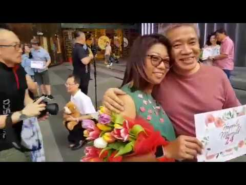 Couples celebrating World Marriage Day at ION Orchard