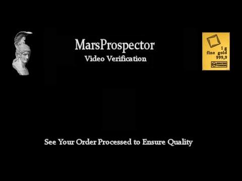 Video Verification - 10 X 1 Gram Valcambi Suisse Bars (MP-0001)