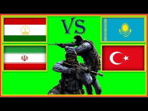 Таджикистан Иран VS Казахстан Турция Сравнение Армии и Военной мощи