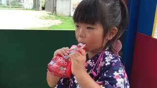 リンゴジュースだいすきみーちゃんが、凍らせたQoo(クー)を飲んだけど、...