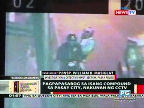 OC: Pagpapasabog sa isang compound sa Pasay City, nakunan ng CCTV
