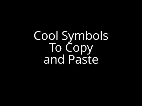 ★ Symbols To Copy and Paste ★