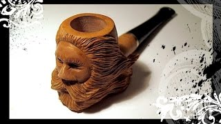 Pipe Wood Spirit Carving With Knife