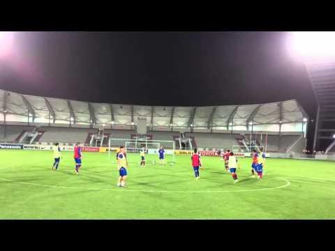 Pre-match official training FC Bunyodkor at Abdullah bin Khalifa Stadium