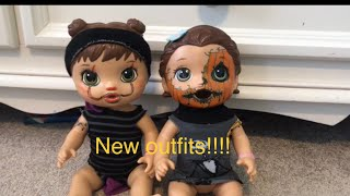 How to make Halloween outfits and customize Baby Alive Dolls August and Bailey