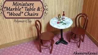 Miniature Marble Table & Chairs - Polymer Clay Tutorial