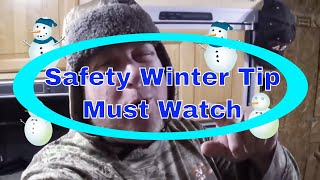 💗 Important Winter Safety Tip to Stay 🔥 Warm on a ⛄ Cold Winter Night