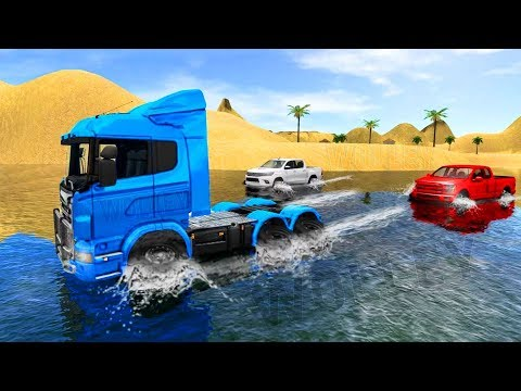 Beach Truck Water Surfing 3D Fun Driving Sim All Cars - Android Gameplay HD - Trucks Games For Kids