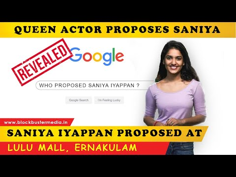 Queen Film Actor Propose Actress Sania Iyappan in Lulumall kochi