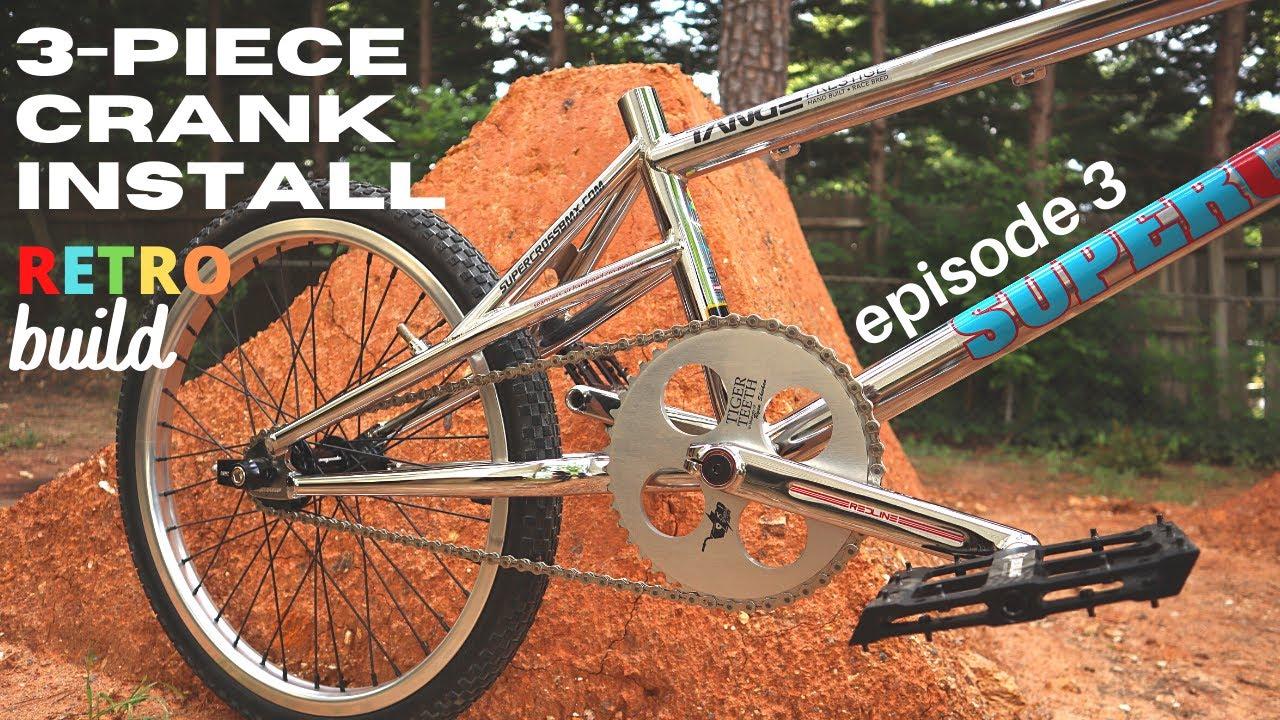 How to install 3-piece cranks on your BMX bike - Retro build ep. 3