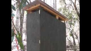 Off Grid Bug Out Location Ultimate Outhouse Part 1