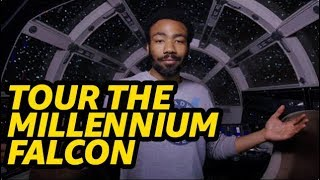 'Solo: A Star Wars Story' Millennium Falcon Tour with Donald Glover