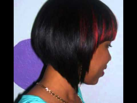 quick weave bob with bang youtube
