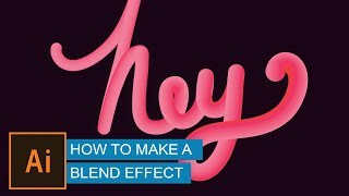 Create Advanced 3D Text with Blend Tool (effect) | Illustrator Tutorial | Hindi