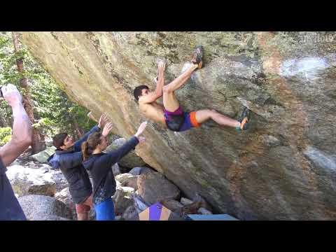 Aidan Roberts bouldering in Colorado