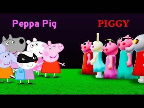 10 PIGGY vs PEPPA PIG Characters!