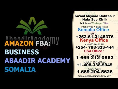 Amazon FBA - Business | Abaadir Academy | Somalia