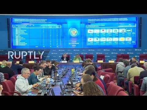 LIVE: Russia's Election Commission to announce preliminary election results