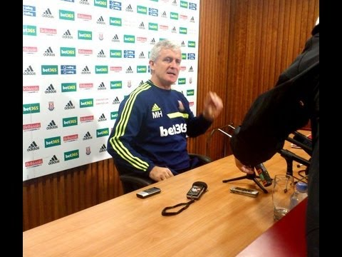 Mark Hughes on how Stoke City can win at Arsenal Sept 2013, Charlie Adam injury, Stephen Ireland