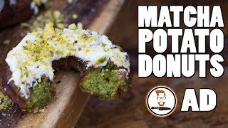 MATCHA POTATO DONUTS