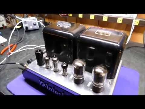 New Signal Path Capacitors in McIntosh MC40 Vacuum Tube Amplifier