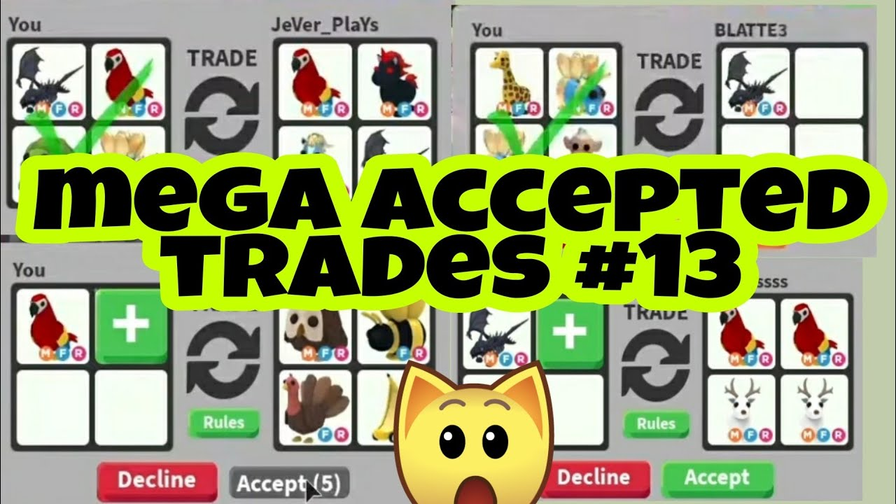 Mega Successful Trades Accepted In Adopt Me Trading Proofs