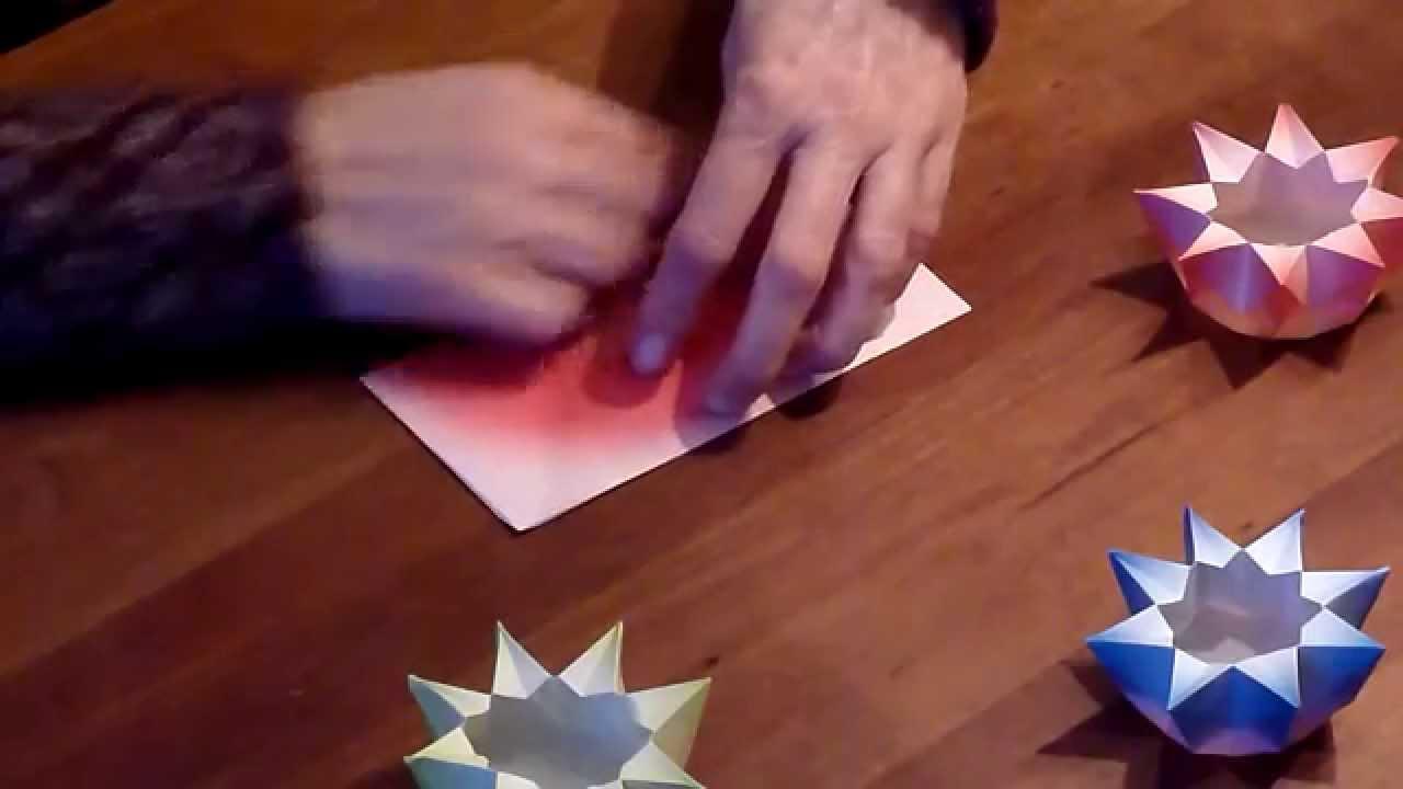 Magnifiek Waldorf ster lantaarn vouwen vanuit een vierkant - YouTube @EI77