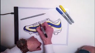 DRAWING R9 BOOTS With LED LIGHT BOX from WISH.COM