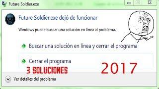 """Como solucionar el problema """"el programa.exe dejo de funcionar 3 maneras 2017"""