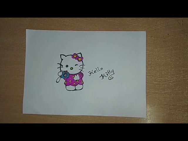 How to draw Hello Kitty|Hello Kitty Easy Draw Tutorial