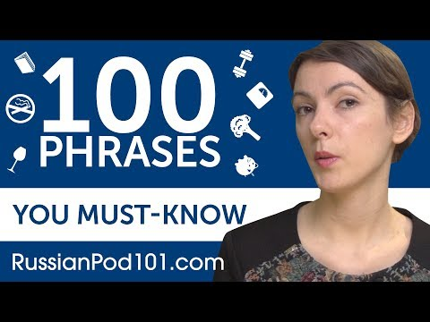 100 Phrases Every Russian Beginner Must-Know