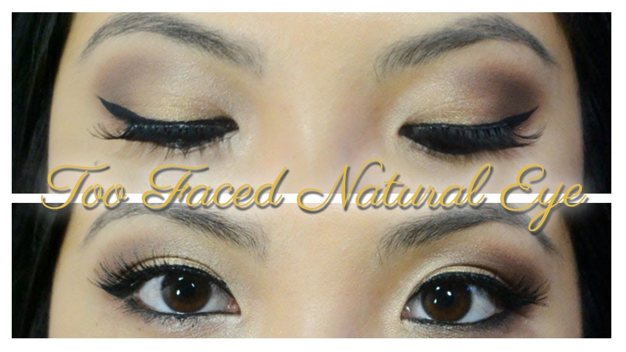 Too Faced Natural Eye Palette Tutorial - YouTube