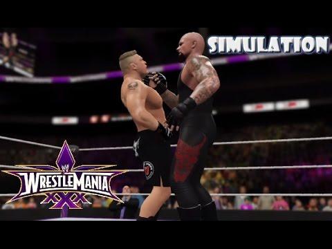 WWE 2K16 SIMULATION: Undertaker vs Brock Lesnar ...